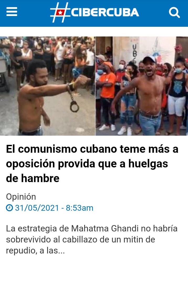 EL COMUNISMO CUBANO TEME MÁS A OPOSICIÓN PROVIDA QUE A HUELGAS DEHAMBRE